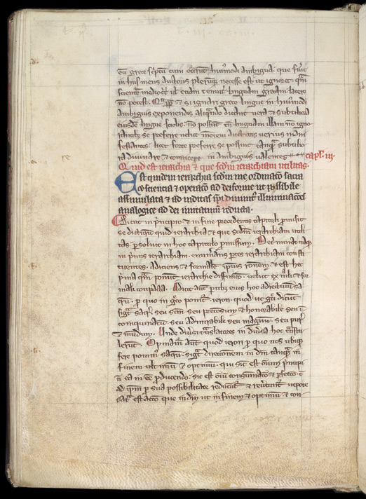 Scholarly Page Layout, In Robert Grosseteste's Translation Of, And Commentary On, Dionysius The Pseudo-Areopagite's 'Celestial Hierarchy' reverse(011ADD000057532U00043V00)
